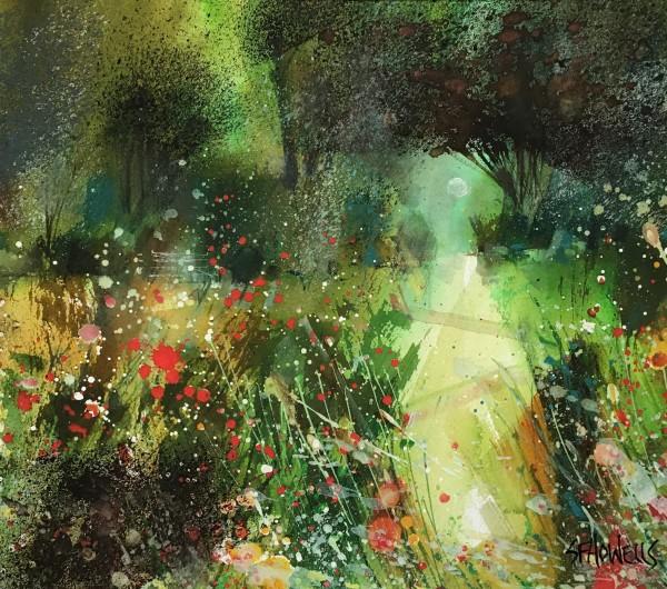 Sue Howells Summer Solstice watercolour Frame: 43 x 49 cm Artwork: 25 x 30 cm