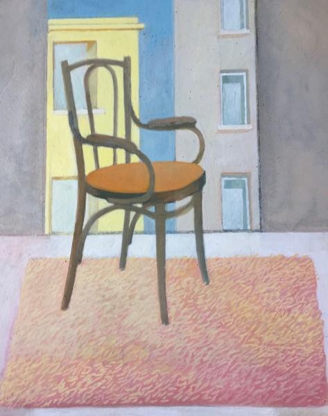 Wendy Jacob The Studio Bentwood Chair gouache 50x44cm