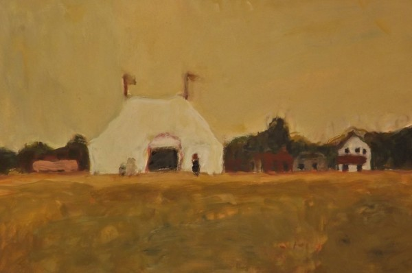 Bridget Moore Little Tent gouache Artwork: 22 x 15cm