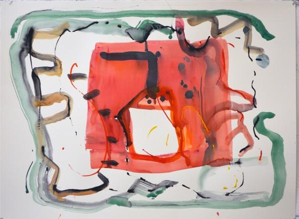 James Faure Walker October 23, 2018 watercolour 80 x 100cm
