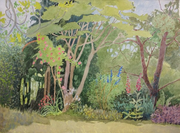 Annie Williams Lockdown Garden watercolour Artwork: 37 x 27cm