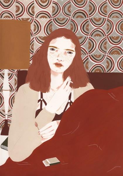 Alessandra Genualdo Sleepless Nights gouache 39 x 30cm