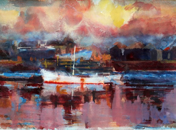 Francis Bowyer Fishing Boat watercolour