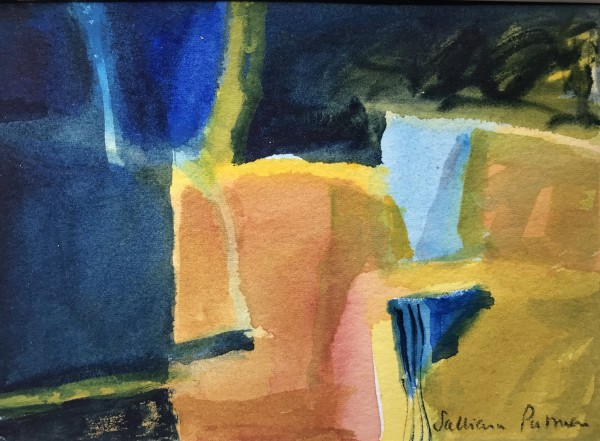Salliann Putman Summer Fields watercolour Frame: 28 x 33 cm Artwork: 13 x 18 cm
