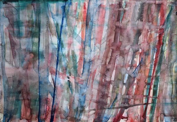 Robin Richmond Jungle Mekong Delta II, Vietnam watercolour Artwork: 29.5 x 40 cm Frame: 45.5 x 63 cm