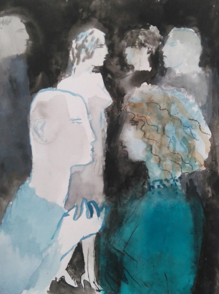 Richard Sorrell A Party watercolour