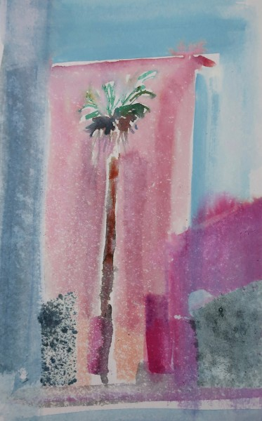 David Hamilton Syracusa Palm watercolour Frame: 40 x 30 cm Artwork: 23 x 15 cm