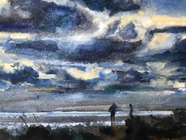 Francis Bowyer End of the Day watercolour & bodycolour Frame: 46 x 54 cm Artwork: 25 x 35 cm