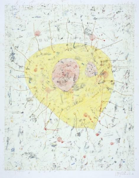 Alexander Vorobyev Pear No 1 mixed media on paper Frame: 84 x 63 cm Artwork: 51 x 39 cm