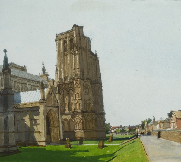 John Newberry NW Tower, Wells Cathedral watercolour 37x43cm