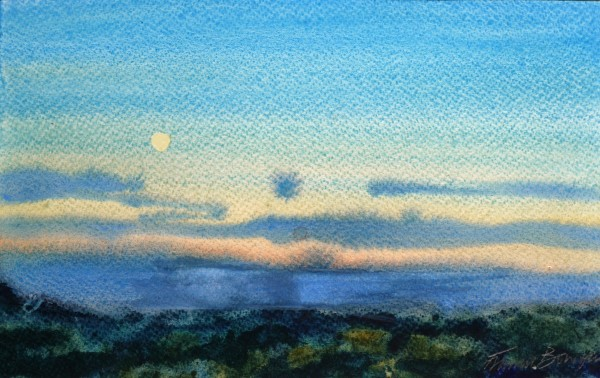Francis Bowyer Sundown watercolour & bodycolour 36 x 44cm