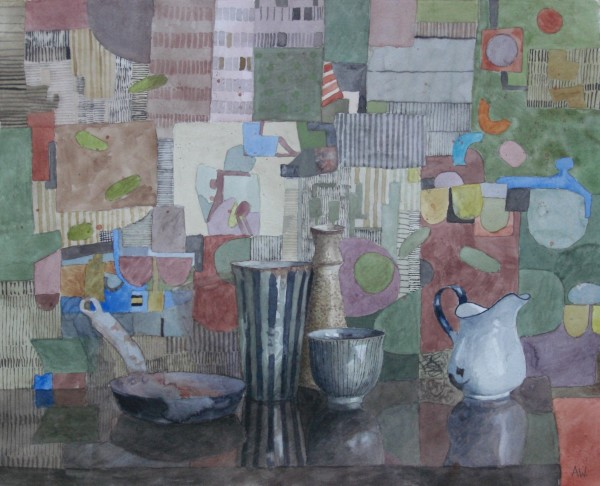 Annie Williams From the Flea Market in Lisbon watercolour 58x67cm