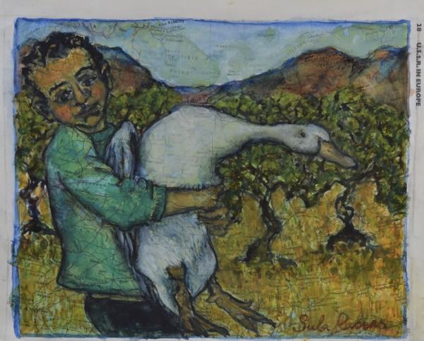 Sula Rubens, Young Boy holding a Goose