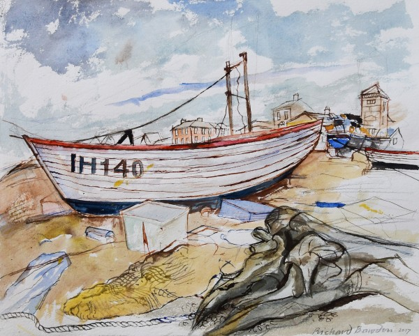 Richard Bawden, Aldeburgh Beach and Washed Up Log
