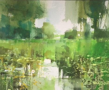 Sue Howells Pond Life watercolour Artwork: 30 x 25cm