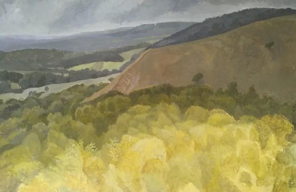 Michael Collins Redhill Landscape acrylic Frame: 30 x 40 cm Artwork: 21 x 32.5 cm