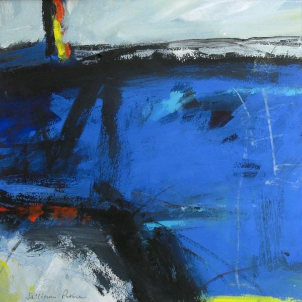 Salliann Putman Crossing the River watercolour & gouache 36x36cm
