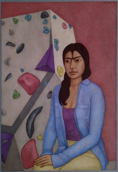 Shanti Panchal Hwa In's Moon 2019 watercolour Frame: 84 x 62cm Artwork: 66 x 46cm