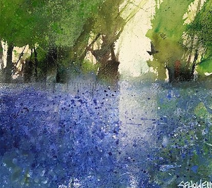 Sue Howells Hope Springs Eternal watercolour Artwork: 28 x 25cm