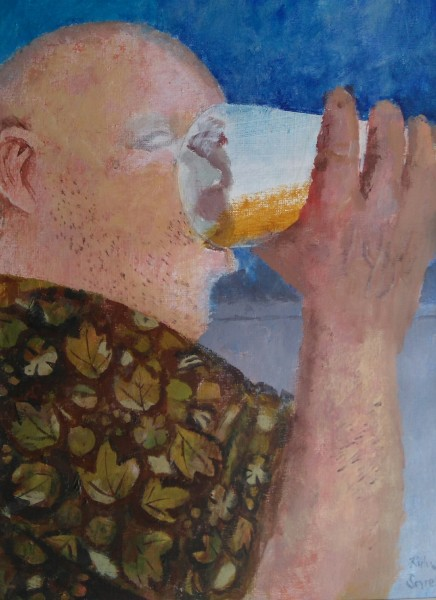 Richard Sorrell, A Man Drinking Beer
