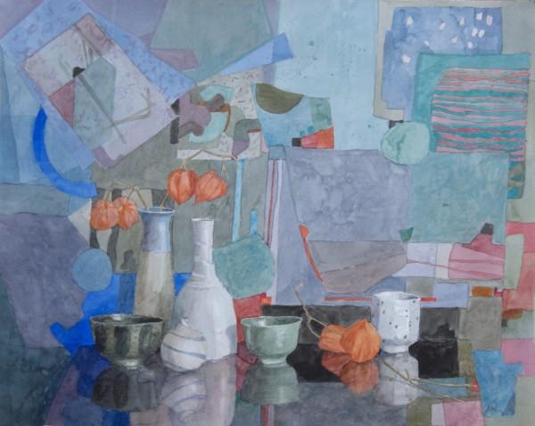 Annie Williams Just a Touch of Orange watercolour 58x67cm
