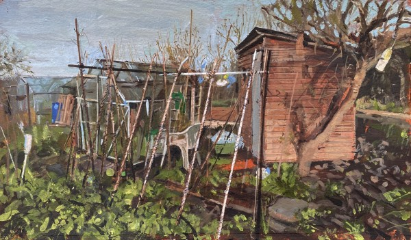 Paul Regan Allotment VIII acrylic on paper Frame: 50 x 33 cm Artwork: 42 x 25 cm