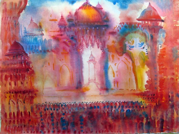 Neil Pittaway Indian Dream watercolour Artwork: 66 x 57cm