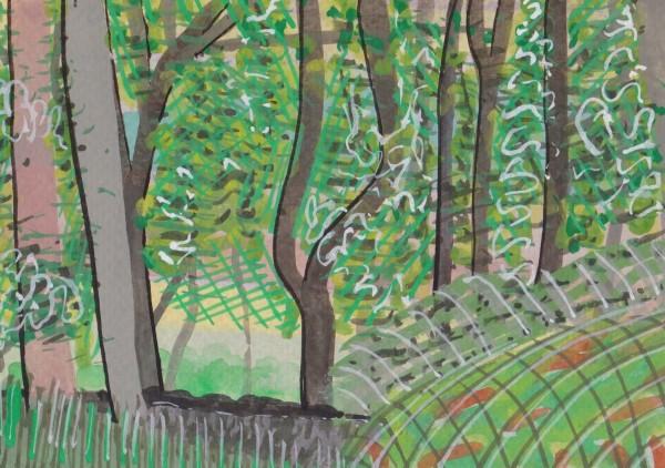 Chloe Fremantle, Norhtumbrian Driveway's Trees to the Right