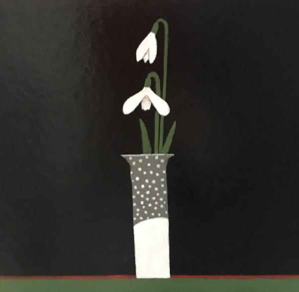 Martin Leman Snowdrop acrylic 40x40cm