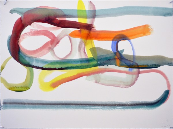 James Faure Walker Sideways 2 watercolour 42x52cm