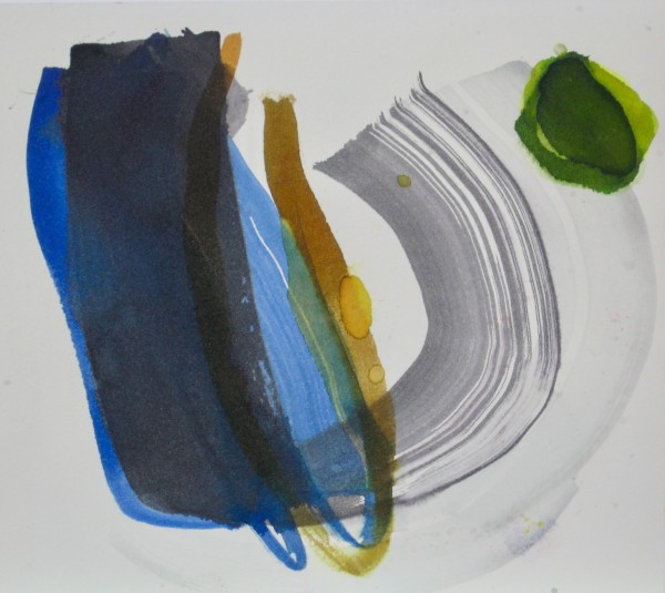 Jane Lewis Swing it High ink on paper Frame: 38 x 40 cm Artwork: 20 x 21 cm