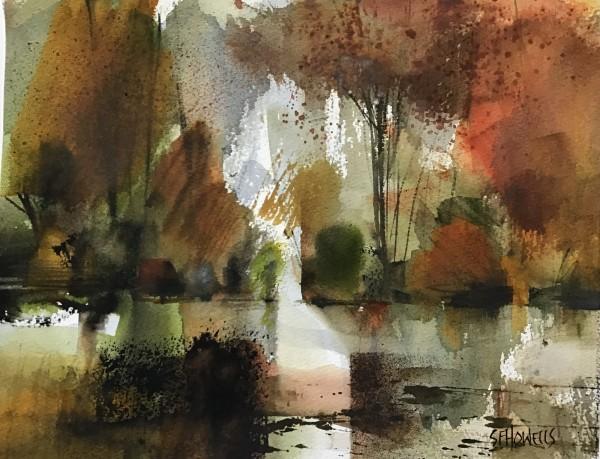 Sue Howells Autumn Springs Eternal watercolour Frame: 45 x 51 cm Artwork: 26 x 33 cm