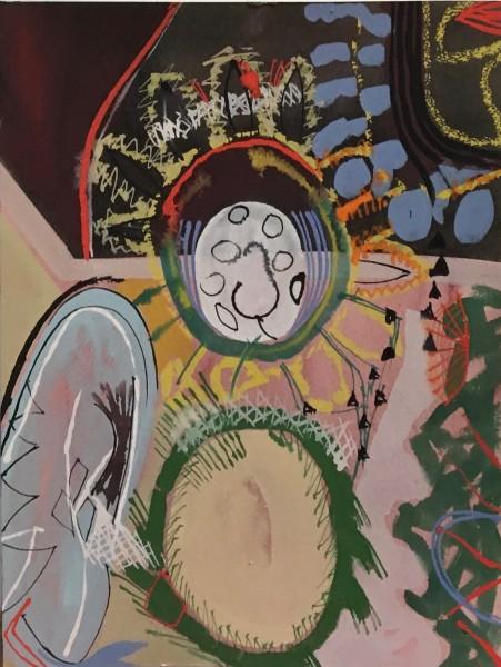 Chloe Fremantle Memento Mori 54 gouache Frame: 45 x 37 cm Artwork: 31 x 23 cm
