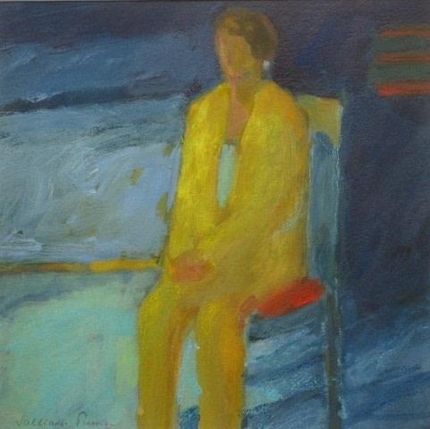 Salliann Putman Contemplation watercolour & gouache Artwork: 25 x 25 cm Frame: 45 x 45 cm
