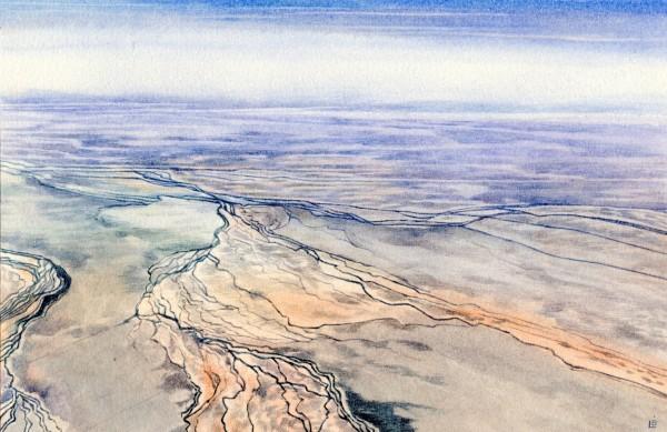 Liz Butler Cloncurry District, Australia watercolour 43 x 33cm