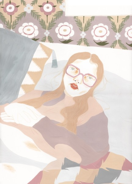 Alessandra Genualdo Isolation gouache & coloured pencil Frame: 53 x 73cm