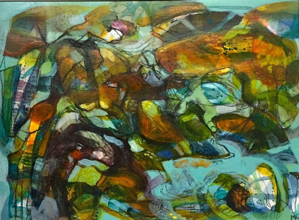 Mark Raggett Towards the Bay mixed media 38x46cm