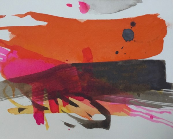 Jane Lewis Midsummer watercolour Artwork: 16 x 17 cm Frame: 27 x 29 cm