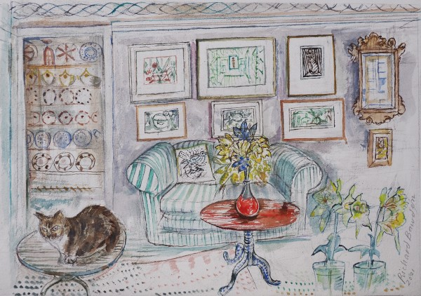 Richard Bawden The Parlour Gallery watercolour Artwork: 48 x 33cm