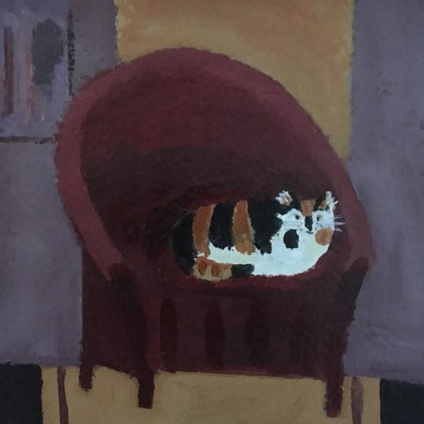 Jill Leman Pip acrylic Frame: 31 x 31 cm Artwork: 15 x 15 cm