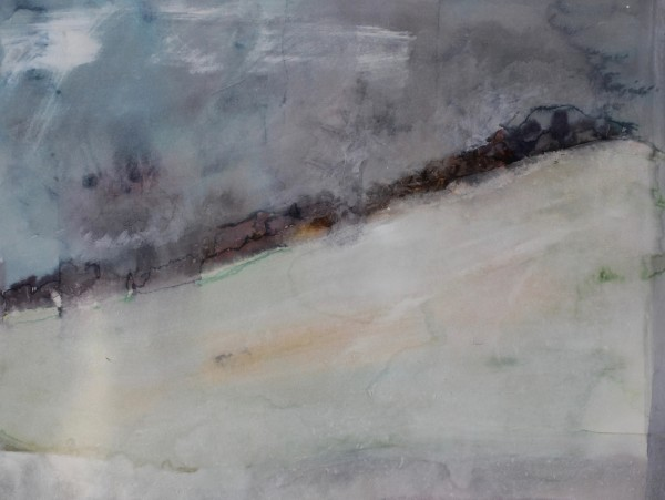 David Hamilton Maybe Night Snow Watercolour and Acrylic