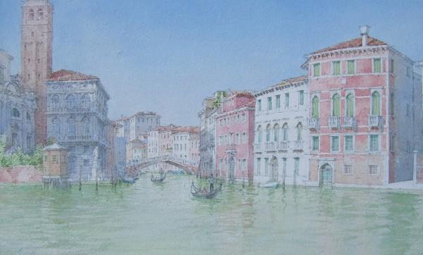 Dennis Roxby Bott Canareggio, Venice watercolour Frame: 53 x 72 cm Artwork: 30 x 48 cm