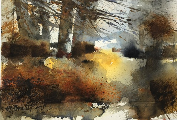 Sue Howells Autumn Springs Eternal watercolour Frame: 38 x 42 cm Artwork: 20 x 24 cm