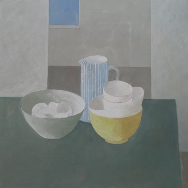 Wendy Jacob Still Life in a Cool Room Gouache