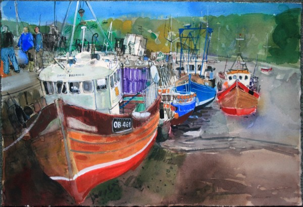 Peter Quinn, Saturday Afternoon, Quayside, Tobermory, Isle of Mull