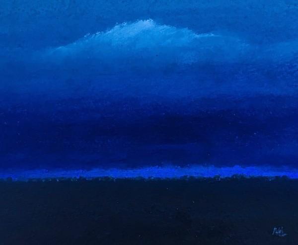 Martin Leman Blue River acrylic 34x34cm