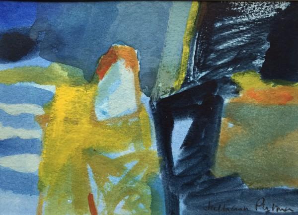 Salliann Putman Frensham 2 watercolour Frame: 28 x 33 cm Artwork: 13 x 18 cm
