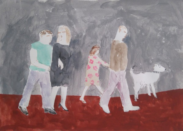 Richard Sorrell Walking in St Just acrylic