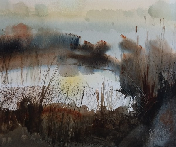 Sue Howells Autumn Chill watercolour