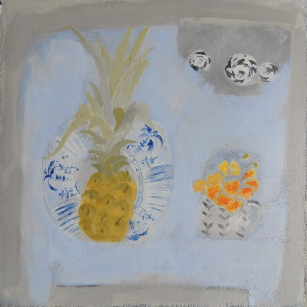 Christie Bird Summer Table acrylic 34x34cm
